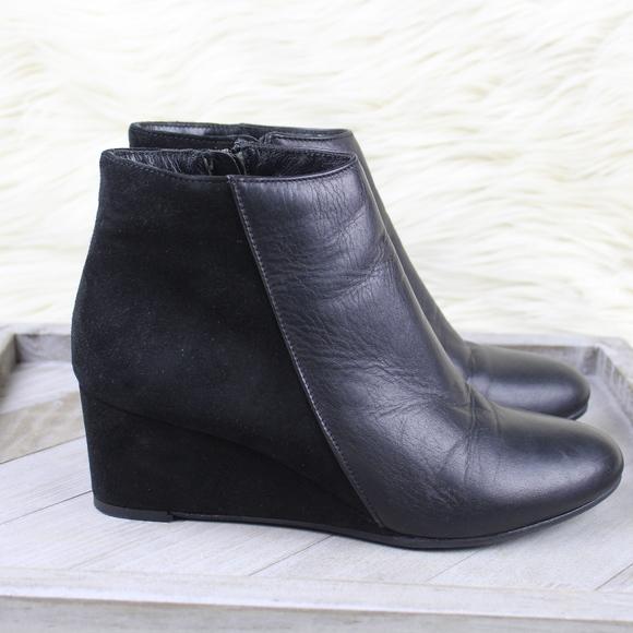Aquatalia Shoes   Judith Wedge Suede